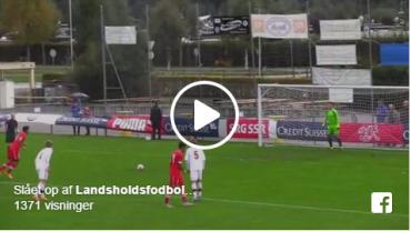 Video: Se flot kontramål og straffescoring fra U/18-landsholdet