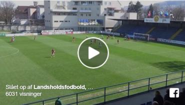 Højdepunkter: Se Jens Odgaard score hattrick for Danmark U/17