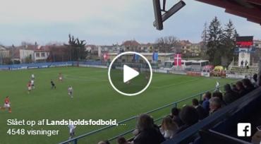 U/17-landsholdet skal til EM: Se det sjove mål der sikrede billetten