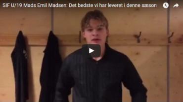Video: SIF U/19s Mads Emil Madsen: Noget af det bedste vi har leveret hele sæsonen
